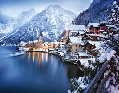 Austrian Lakes Winter Wonderland