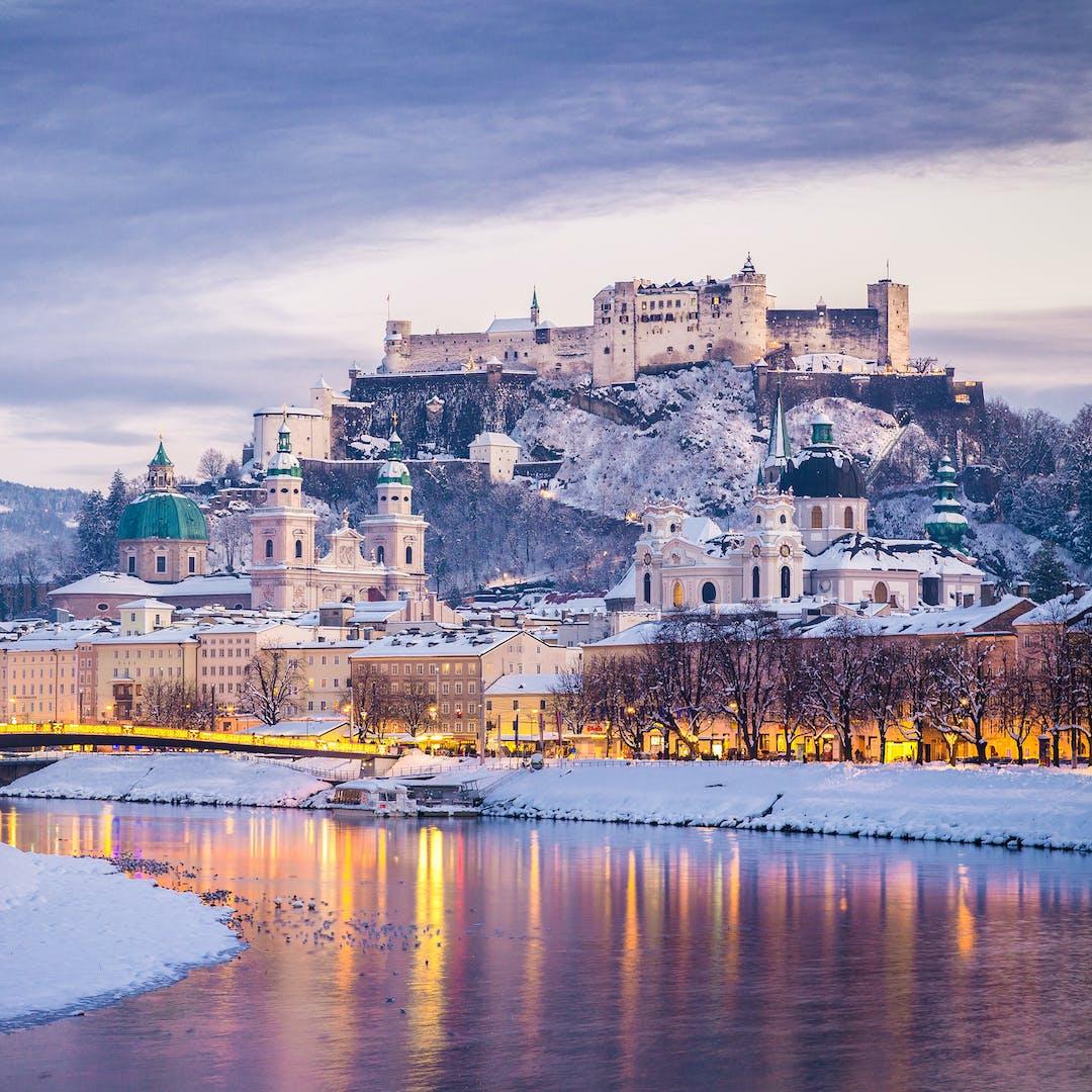 Salzburg Christmas Market.Austrian Lake District Linz Salzburg Christmas Markets