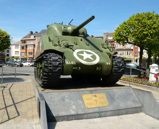 Sherman Tank at Bastogne