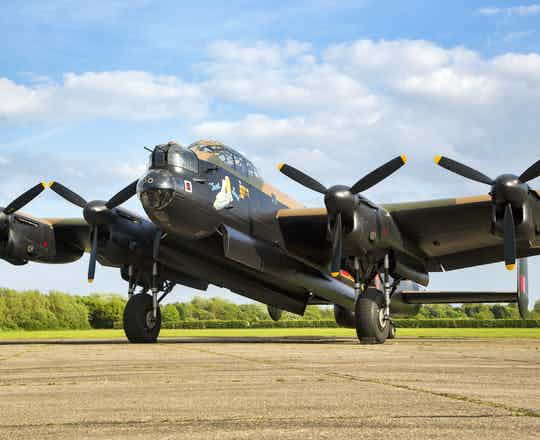 Lancaster Bomber Taxy Ride