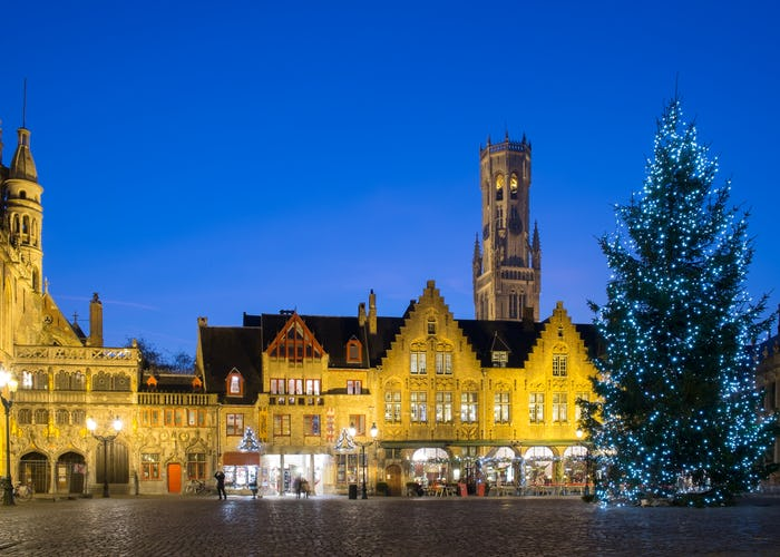 Bruges Square at Christmas