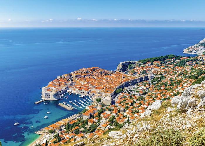 Dubrovnik, a Croatian city on the Adriatic Sea