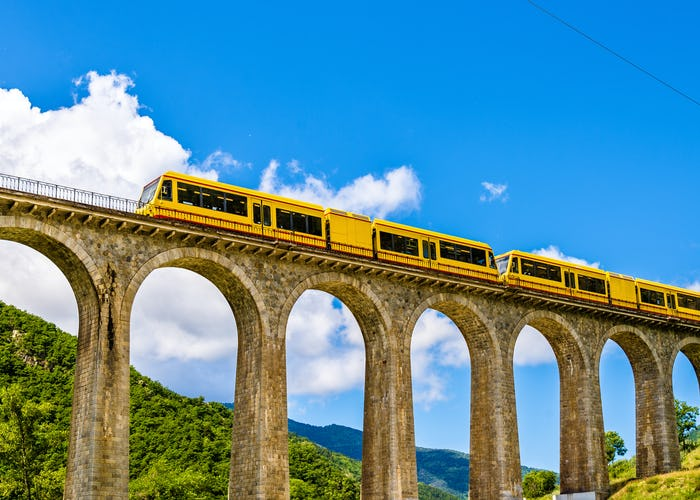 Little Yellow Train of the Pyrenees Train Ride