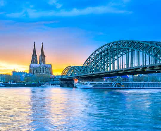 Cologne; Rhine In Flames