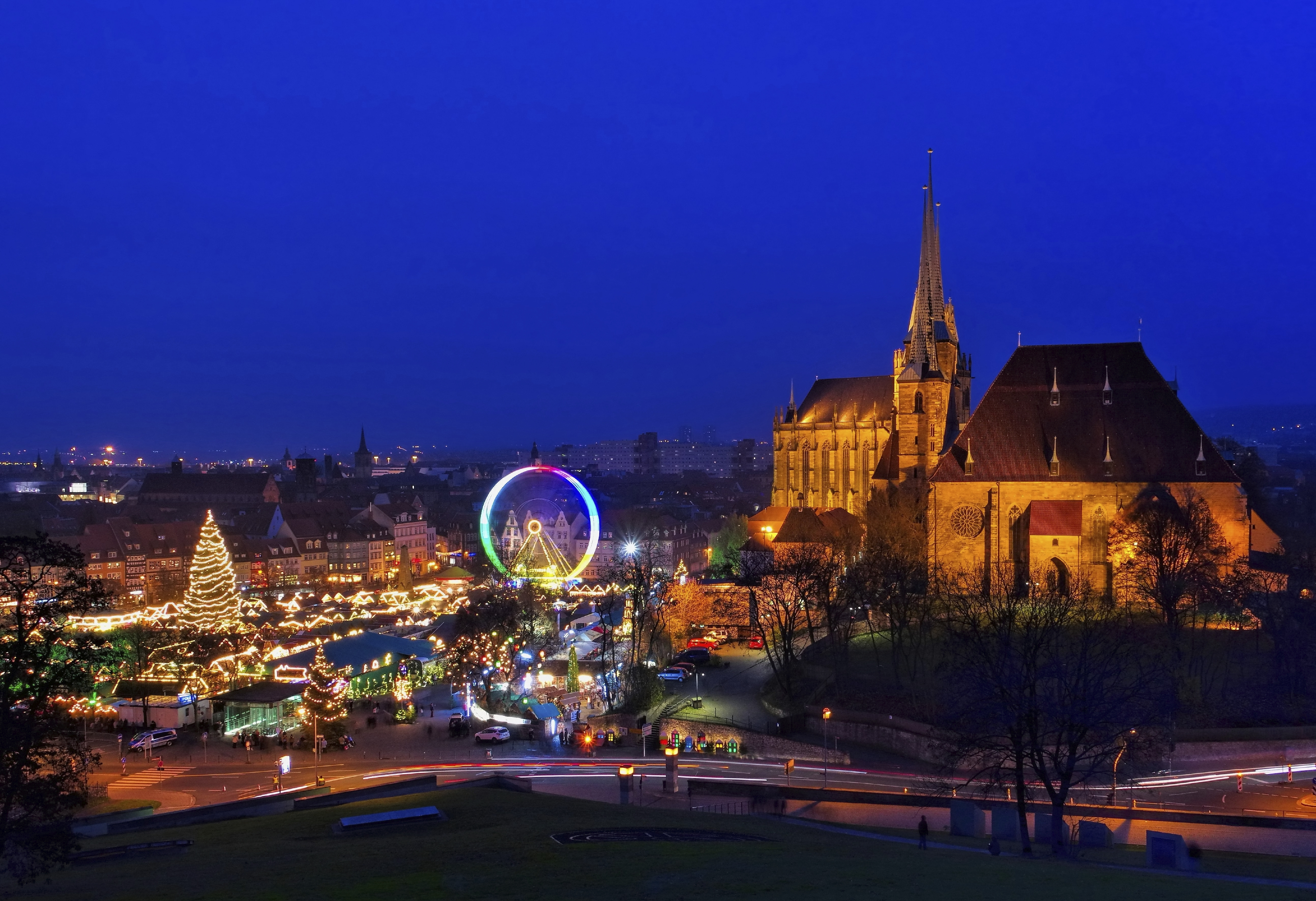 Thuringia Erfurt Weimar Christmas Markets Break Leger
