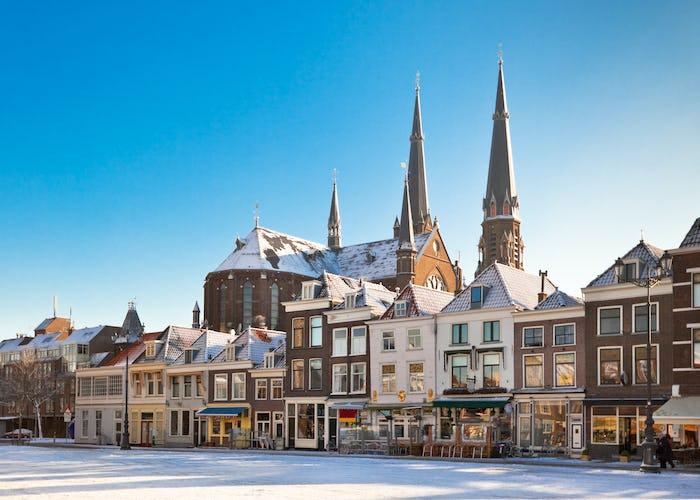 Delft Main Square in Winter