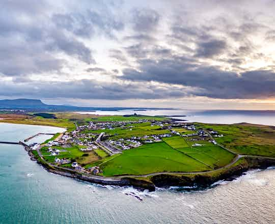 Aerial view of Mullaghmore Head