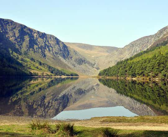 Reflections on the upper lake glendalough