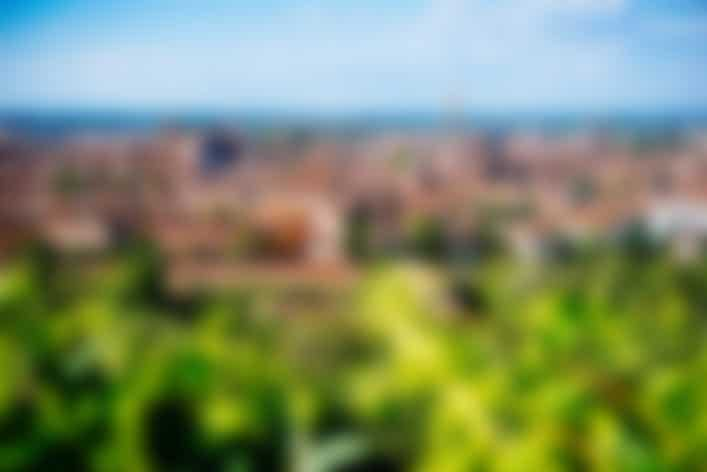 Panoramic view of old city of Bologna