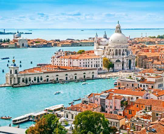 Venice with Santa Maria della Salute church, Italy