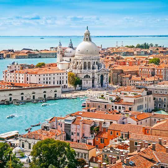 Venice with Santa Maria della Salute church, Italy