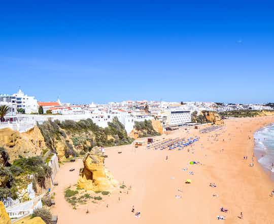 Peneco beach in Albufeira