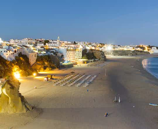 Albufeira in the evening