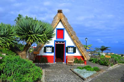 Colourful Straw Houses
