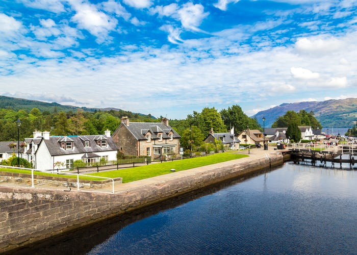 Water gateway in Fort Augustus and Loch Ness