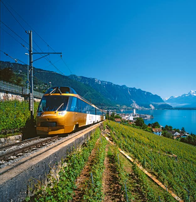Lake Geneva, Evian & the Golden Pass Railway