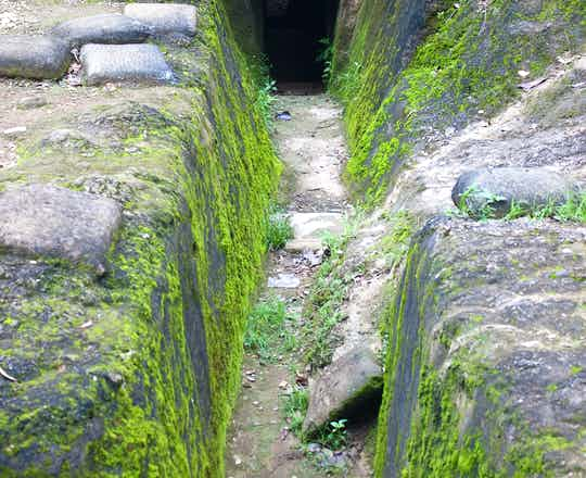 Recovered French trenches